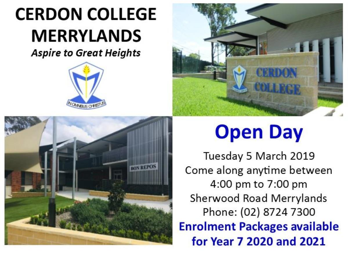 2019 Open Day for Website